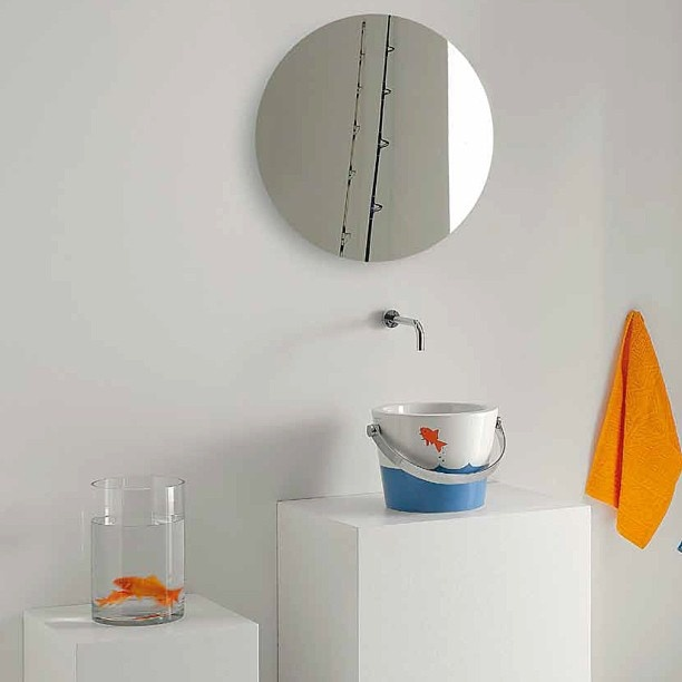 #Kypriotis #Design #Innovation #Bathroom #Tiles   Colorful washbasin