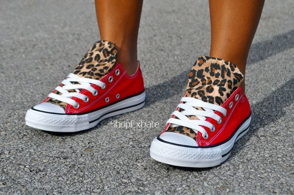 This item ships within 6-10 days of purchasing. Preorder today. The 'Hot Cheetos' Converse. Finished to perfection. Iconic. Custom authentic Low-Top Red Converse, embellished cheetah print on the front tongue and on the back strip. Hand made by our style-savvy team. Made in USA. Please note Converse shoe does run a half size large. Example, if you …