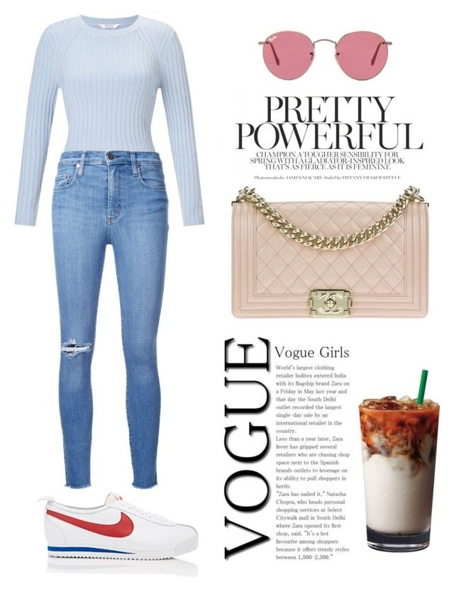 """""""Sin título #304"""" by magine on Polyvore featuring moda, Miss Selfridge, Nobody Denim, NIKE, Chanel y Ray-Ban"""