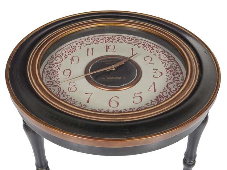 82 best coffee table clock images on pinterest clock for Clock coffee table round