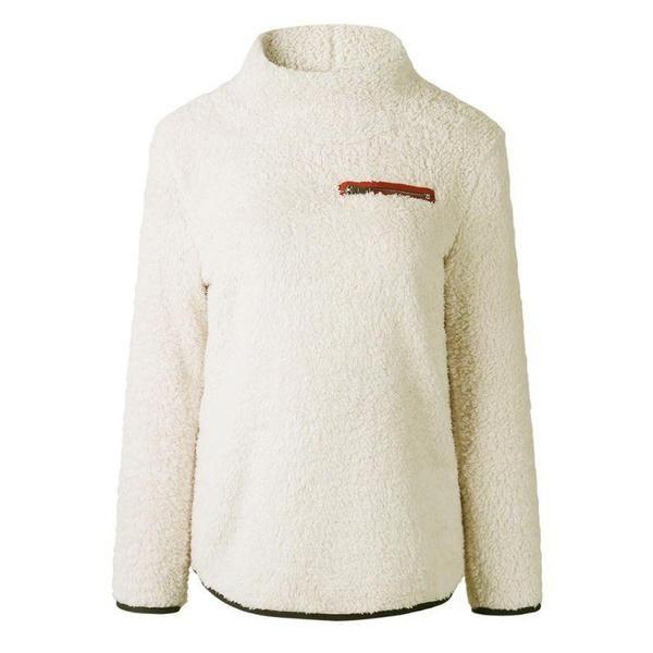 WAWAYA Womens Sherpa Fall Winter Turtleneck Plus Size Zipper Pullover Sweatshirt Tops