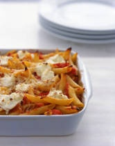 Easy Baked Ziti... enough said! I like my dishes to be easy & simple to prepare... don't have hours to spend in the kitchen. This dish is simple & you can add veggies or sausage/ground beef/ground pork/ground turkey, etc.