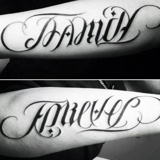 Forevever Ideas Family Tattoo Illusion