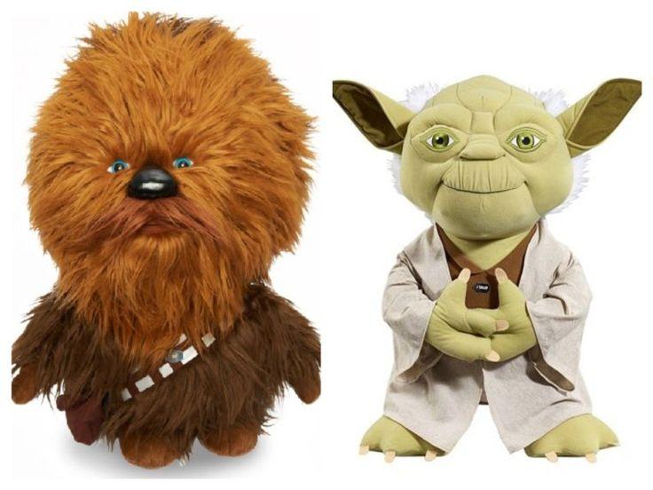 Star Wars Talking Yoda 24in & Star Wars Talking Chewbacca