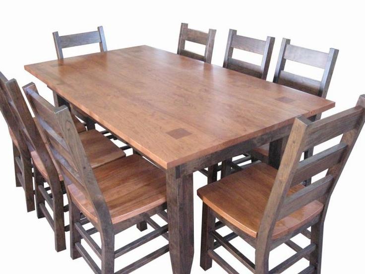 custom amish made dining room table dining room pinterest. Black Bedroom Furniture Sets. Home Design Ideas
