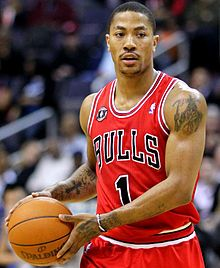 "Derrick Rose 2.jpg Derrick Martell Rose is an American professional basketball player for the Chicago Bulls of the National Basketball Association. Born in Chicago, Rose learned the game of basketball from his three older brothers. Wikipedia Born: October 4, 1988 (age 25), Chicago, IL Height: 6' 3"" (1.91 m) Current team: Chicago Bulls (#1 / Point guard)oogle Image Result for http://upload.wikimedia.org/wikipedia/commons/e/eb/Derrick_Rose_2.jpg"