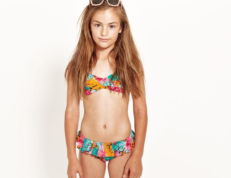 Neontide teen girls bikini bandeau set . Shop online at www ...