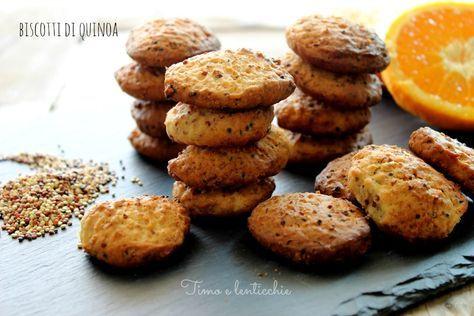 Biscotti di quinoa: Deliziosi e morbidi biscottini per il tè o colazione con questo pseudo cereale salutare ideale per intolleranti al glutine o celiaci.