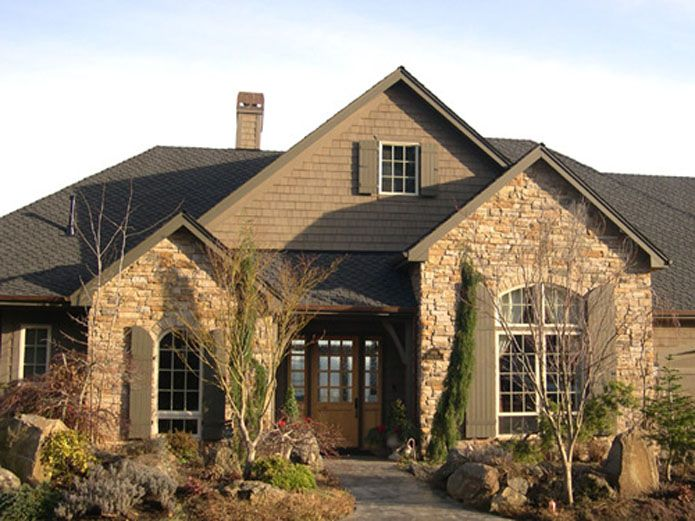 Stone And Siding Colors Having Partial Rock Keeps Cost
