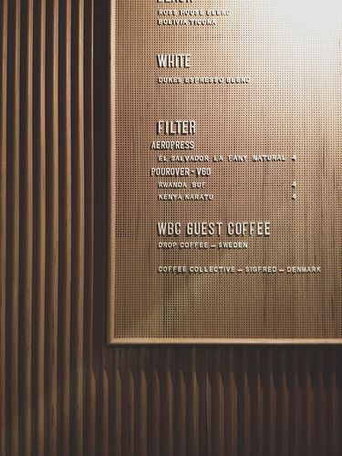 Menu of the week. WBC Guest Coffee. Dukes Coffee Roasters - Flinders Lane, Melbourne.