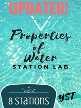 This lab gets students up and out of their seats while they observe the amazing properties of water. Use this to lab to introduce or review. Station 1: Surface Tension & Adhesion Station 2: Polarity Station 3: Surface Tension & Adhesion: Effects of Detergent Station 4: Hydrogen Bonding Station 5: Capillary action Station 6: Cohesion of Water