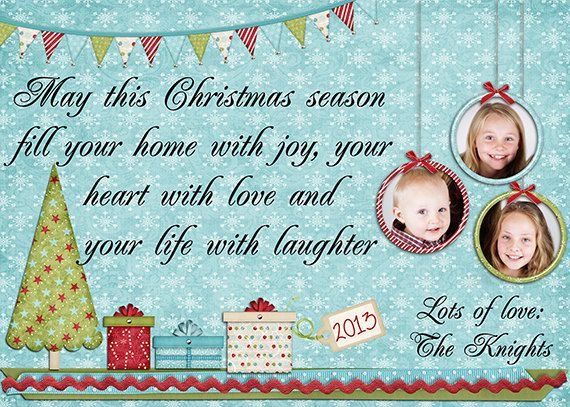 Christmas Photo Card personalized digital & by MKLiveLaughLoveShop, $7.00