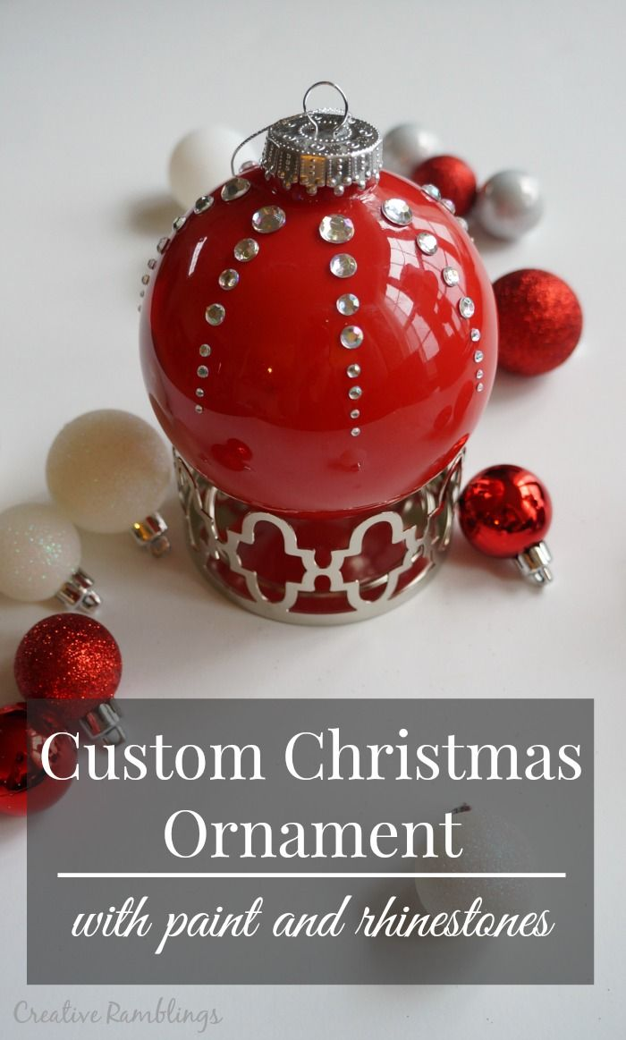 Thrifty Creative Living Customer Christmas Ornament with paint and rhinestones