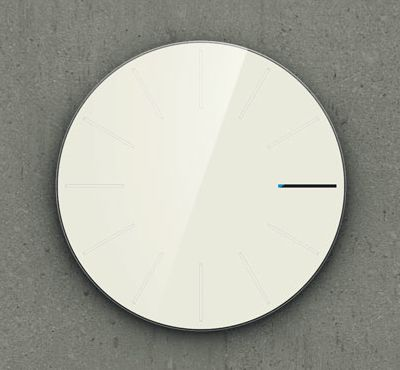 india born designer saikat biswas really flexed his design muscle to create the obligatory designer blank wall clock frei