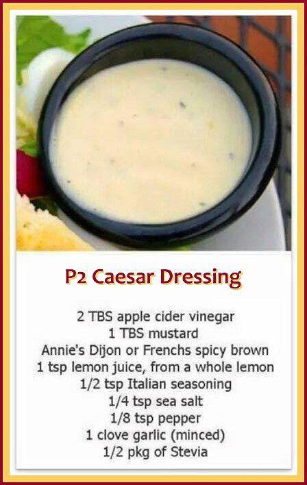 P2 Caesar Dressing - Omnitrition - Omni - hCG - Phase 2 recipe: