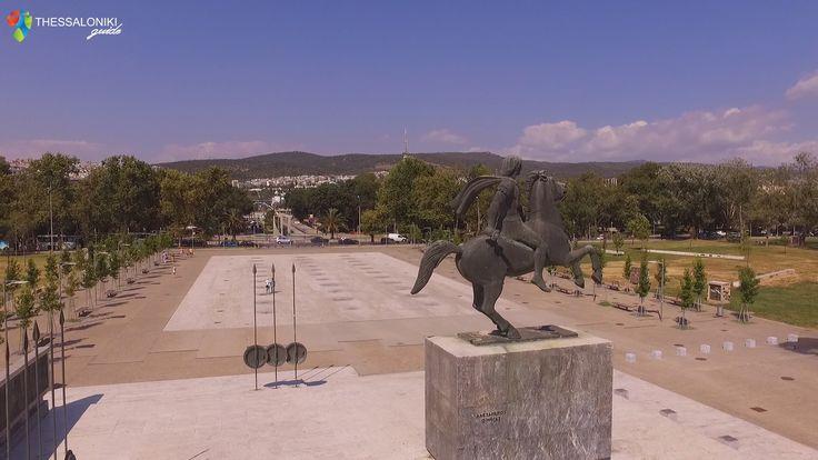 Άγαλμα Μεγάλου Αλεξάνδρου στη Νέα Παραλία Θεσσαλονίκης