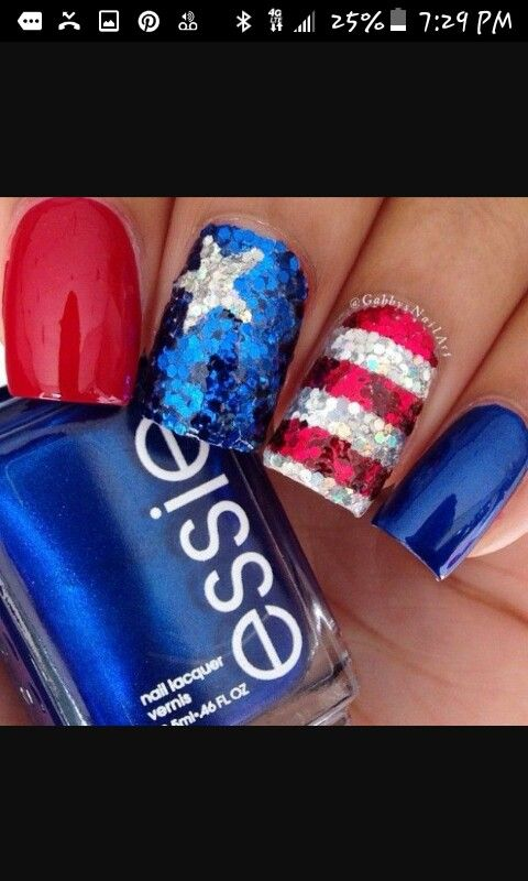 18 best 4th of july nails images on Pinterest | 4th of july nails ...