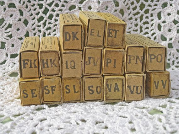 Laundry labels unused woven French name labels box of by Histoires