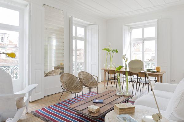 Living room of Campo Grande apartment, Baixa House, Lisbon www.baixahouse.com