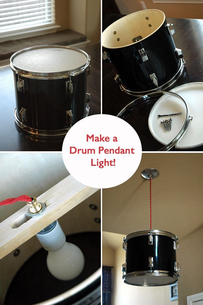 Get creative with this cool DIY Drum Light toturial! It's time to upcycle and give life to those old materials!