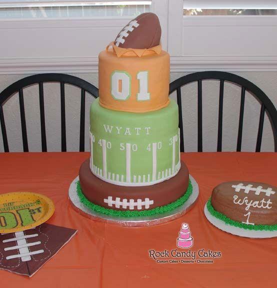 Football Birthday CakeBirthday Parties, Boys First Birthday Football, Cake Ideas, 1St Birthday, Football Birthday Cake, Parties Ideas, Football Cake, Birthday Ideas, Birthday Cakes