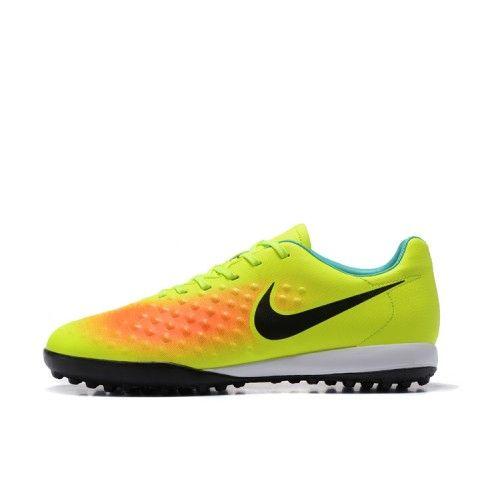 Beste Nike Magista Orden II TF Gron Bla Orange Fotbollsskor