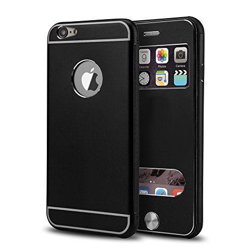 PhoneStar High End Aluminum Apple iPhone 6, 6s Schutz Hülle Flip-Cover mit Sichtfenster CNC gefräst - schwarz. https://www.amazon.de/dp/B01MFBQOF3/ref=cm_sw_r_pi_dp_x_pMjhybGGJ4C87 #PhoneStar #highend #Aluminum #Apple #iPhone6 #Schutz #Hülle #FlipCover #CNC #schwarz