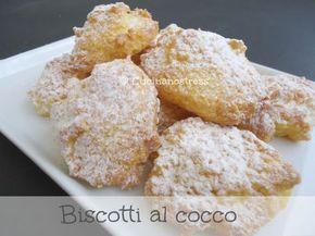 Ecco un dolce veloce, facile e con pochi ingredienti, dei biscotti al cocco....deliziosi. Sono convinta che riuscirete a far cambiare idea anche a chi non ama il cocco.