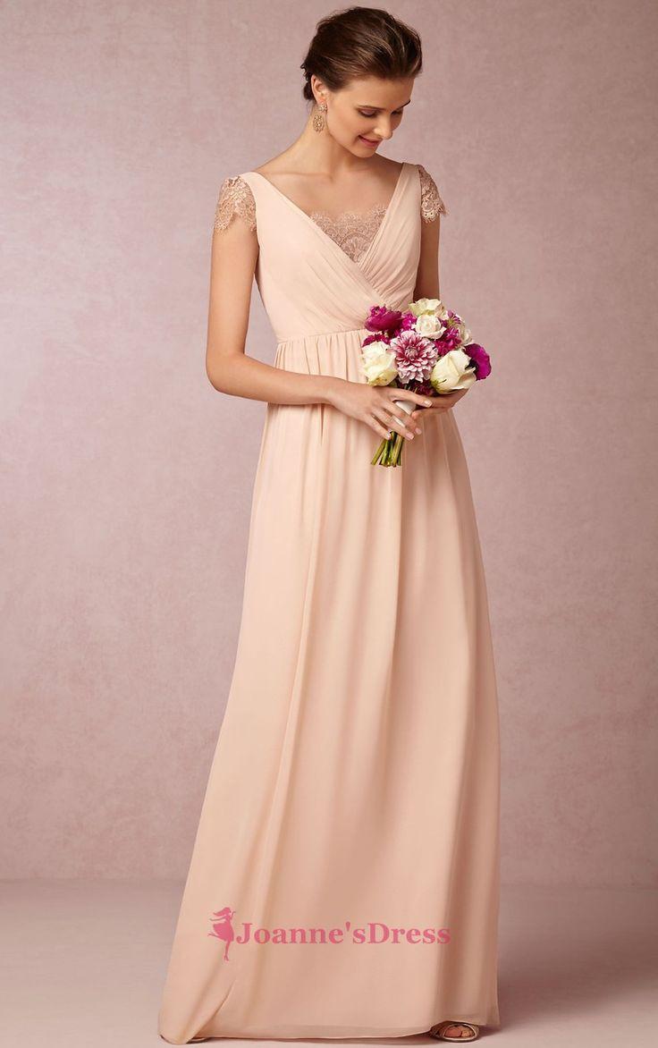 25 best pink bridesmaid dresses images on pinterest pink floor length a line straps cap sleeves zipper chiffon long bridesmaid dresses ombrellifo Images