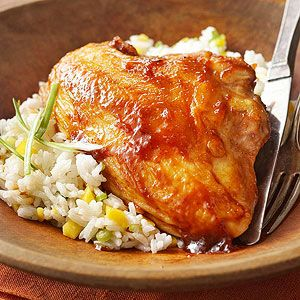 Barbecue-Chutney Chicken From Better Homes and Gardens, ideas and improvement projects for your home and garden plus recipes and entertaining ideas.