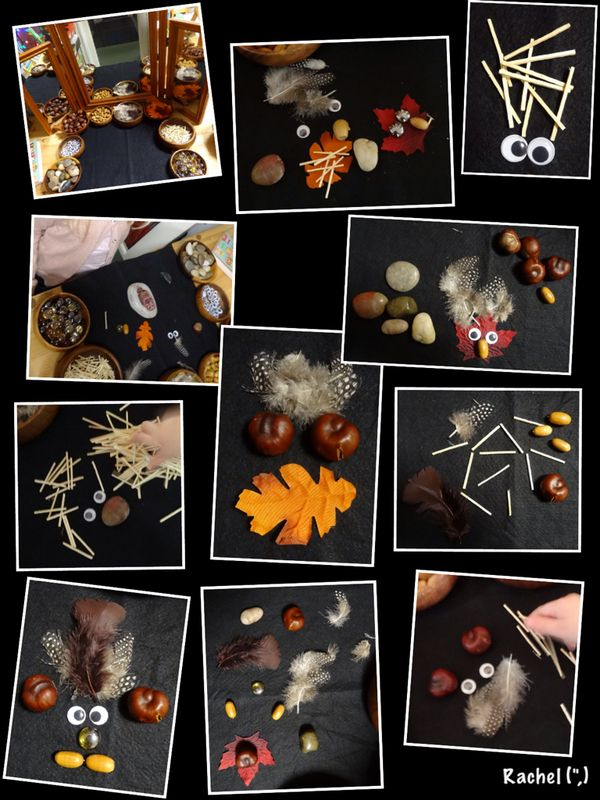 "Transient art with (mostly) natural materials - from Rachel ("",)"
