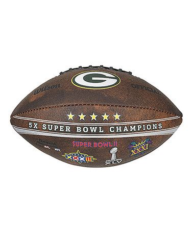 Look at this #zulilyfind! Green Bay Packers Super Bowl Champions Football #zulilyfinds