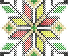 embroidery motif templates | Embroidery Designs:- Geometric Cross Stitch Border Motif Embroidery ...