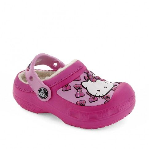 Incaltaminte interior fete Hello Kitty Bow lined - #Crocs