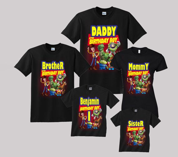 Toy story Birthday Shirt Custom personalized shirts for all family ... a0d632182c6