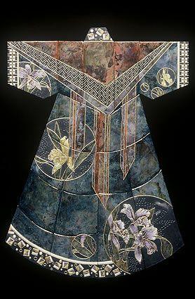Marcia Jestaedt raku-fired ceramic tile kimono