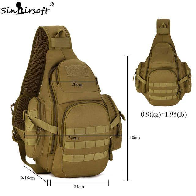 Molle taktische Schulter Messenger Bag Pouch Travel Sling Rucksack