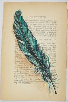 vintage feather drawing - Google Search
