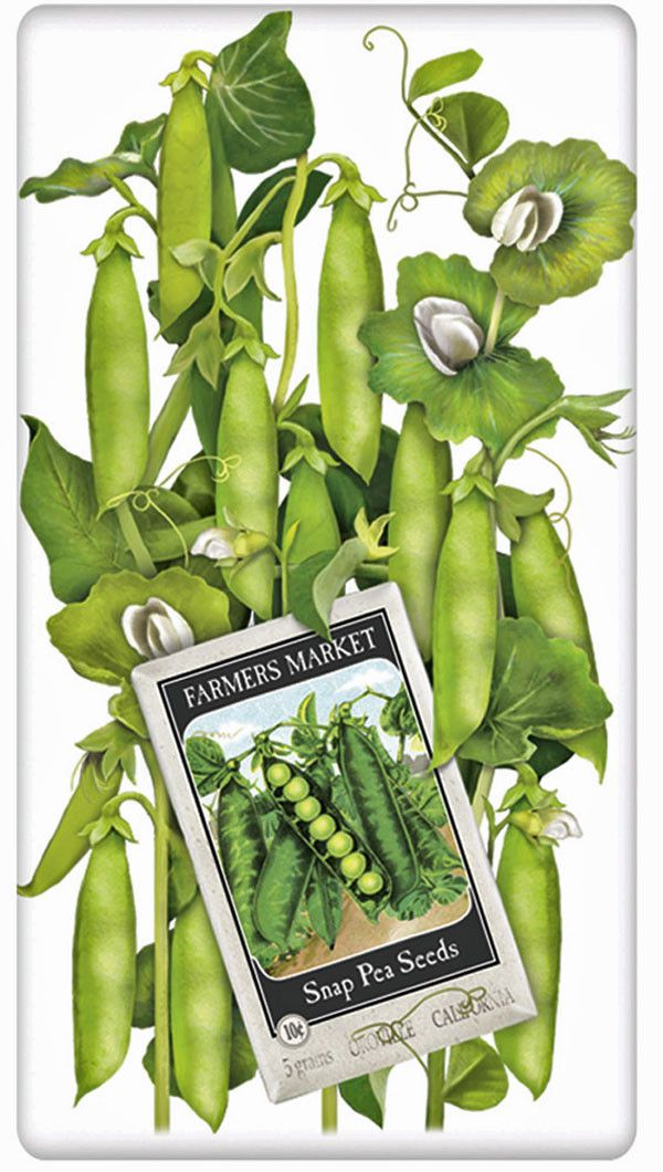 Spring Garden Peas 100% Cotton Flour Sack Dish Towel Tea Towel