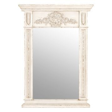 Cream Trumeau Framed Mirror, 35.5x49 | Kirklands