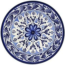 Bring southwestern appeal into your home with these vibrantly colored Talavera plates!  These beautifully handcrafted plates by the renowned studio of Tomas Huerta will make a perfect addition to any room in your home. Each authentic plate is made in Puebla, Mexico and is 100% lead free; chip resistant; and microwave, oven, and dishwasher safe! There is also an eyelet on each plate for easy wall hanging. $49.95