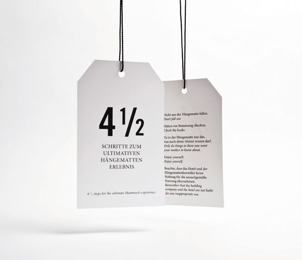 Tags designed by Moodley for Vienna and Graz based luxury hotel Daniel