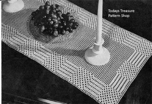 Easy Free Crochet Runner Pattern No 7280 | vintage runner