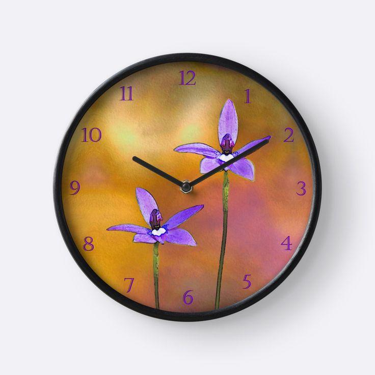 Australian Wax-lip Orchid Clock by TC-TWS