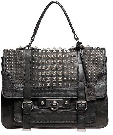 Cameron Studded Leather Satchel