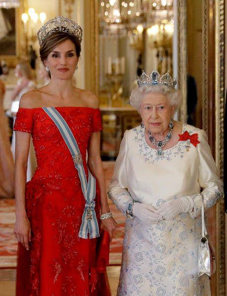 La reine d'Angleterre et la reine d'Espagne