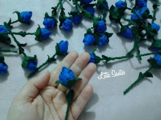 Mini Rosas Coloridas - encomenda da Generestides