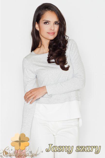 Bluzka z kontrastowym pasem marki FIGL.  #cudmoda #bluzki #bluzy #ubrania #odzież #clothes #bluse #blouses
