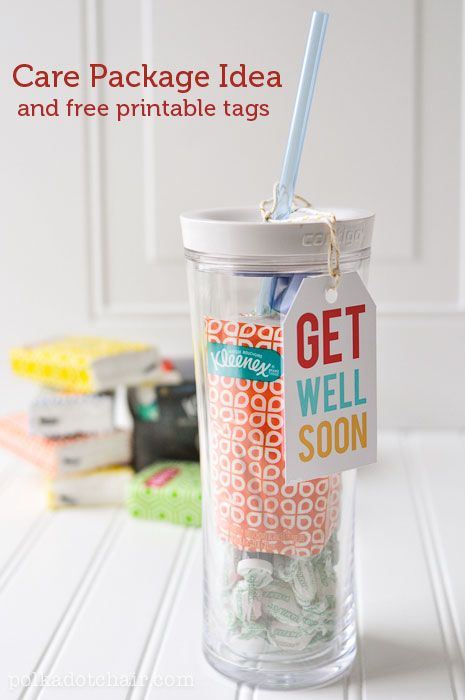 Get Well Soon Free Printables and Care Package Gift Idea - CUTE!