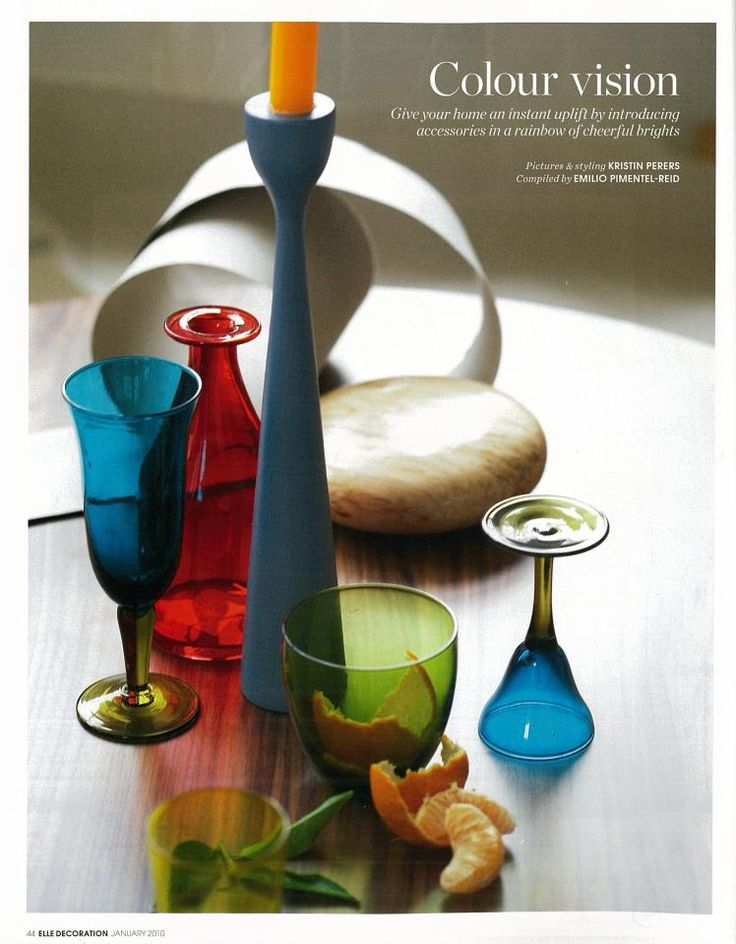 ELLE Deco UK, Rolf™ in blue combination freemover.se. Color vision. Picture and Styling: Kristin Perers. Compiled by: Emilio Pimentel-Reid
